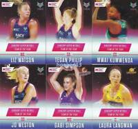 Team of the Year 2018 Super Netball 12 Card Set