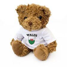 NEW - Wales Flag Teddy Bear - Welsh Fan Gift Present Cymru
