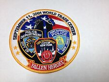 "5"" SEPTEMBER 11TH 2001 WORLD TRADE CENTER  NYPD FDNY FALLEN HEROES PATCH NEW"