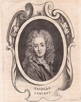 Portrait XVIIIe Nicolas Lancret Peinture Peintre Régence 1762