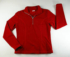 NILS Robin Pullover Fleece T-Neck 1/4 Zip Red Women's Size Medium Made in USA