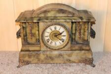 Antique Ingraham 8 Day Gonging Mantle Clock ~ Weathered Finish ~