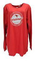 Arizona Cardinals NFL Team Apparel Red Long Sleeve Shirt Women's Plus Size, nwt