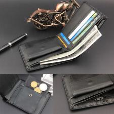 Men Leather Wallet Bifold Credit Card Holder Coin Zipper Clutch Money Clip Purse