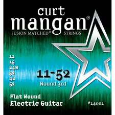 Curt Mangan Flatwound Steel 11-52 Electric Guitar Strings
