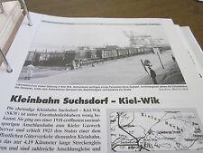 Neben - Schmalspurbahnen 3 Schleswig Holstein Kleienbahn Suchsdorf Kiel Wik 20S