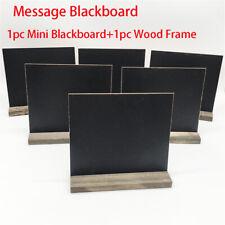Sign Decoration Vintage Square Chalkboard Mini Blackboard Wooden Message Label