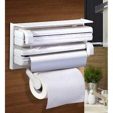 Triple Roll Dispenser for Aluminium Foil Cling Film & Roll Paper Towel Holder