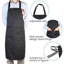 Schwarz Schürze Kochschürze Latzschürze Grillschürze Küchenschürze Gastronomie