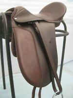 Dressur Baumloser Sattel (springend)mit Leder Sidepull Zaumzeug Cob Größe