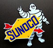 2 Piece Set - RACING LOGO SIGNS - Michelin / Sunoco  - NASCAR -   Automobilia -