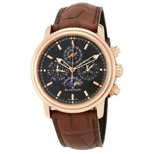 Mens BLANCPAIN LEMAN 18K ROSE GOLD PERPETUAL CALENDAR Automatic WATCH NEW