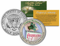 FROGLEGS MECHANICAL *Collectible Antique Fishing Lures* JFK Half Dollar US Coin