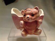 Vintage Ceramic Teddy Bear With Cradle Planter