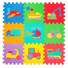 Spielmatte 60tlg Spielteppich Puzzlematte Kinderteppich Schutz Matte Fahrzeuge