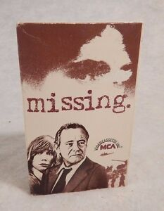 Betamax Beta MISSING 1982  Jack Lemmon  Sissy Spacek