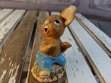 vtg vintage Pendelfin statue made England rabbit bunny bath thumper piano