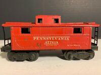 Vintage Lionel Train Red Caboose Postwar Pennsylvania 477618, #2472