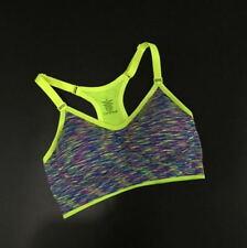 Women Fitness Yoga Stretch Workout Tank Top Seamless Racerback Padded Sports Bra