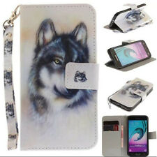 Wolf Pattern Card Leather Magnetic Flip Wallet Case Cover For Various Phones