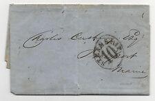 US Stampless Cover Havana Steamship 10 Ship Folded Letter May 30, 1856