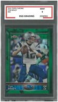 TOM BRADY 2015 TOPPS CHROME #50 ROOKIE ~ BSG 9