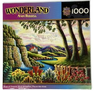 Master Pieces 1000 Pc Jigsaw Puzzle Andy Russell's Wonderland Wishing – Complete
