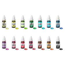 Set x 14 - Rainbow Dust Colour Flo Liquid Lebensmittelfarbe Airbrush-Farbe 16ml