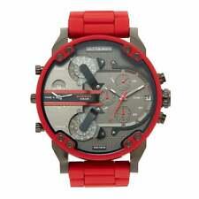 ✔️ DIESEL DZ7370 Red Mr. Daddy 2.0 55mm Chronograph Men's Watch