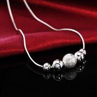 schmuck weihnachten silberne kette perlen - anhänger legierung halskette