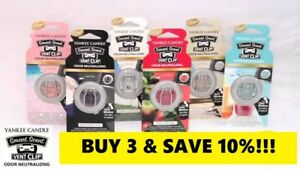 ☆YANKEE CANDLE CAR VENT CLIPS☆CHOOSE THE SCENT☆BUY 3 SAVE 10%- FREE SHIPPING