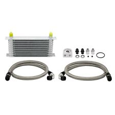 Mishimoto Universal 10 Row Oil Cooler Kit (Metal Braided Lines) Free Shipping!