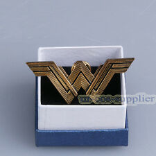 Wonder Woman Logo Metal Pin Badge Brooches &Box Collectibles Cosplay Props Gift