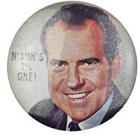 Vtg Richard Nixon NIXON'S THE ONE Political Campaign Pinback Button