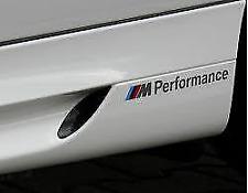 2 AUTOCOLLANTS STICKER MPERFORMANCE M M1 M2 M3 M4 M5 M6 20CM ORIGINAL BMW MPOWER