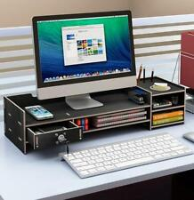 Monitor Stand Riser with Storage Organizer Office Computer Stand Desktop Wood