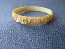 Vintage flowers & leaves celluloid bracelet bracelet needs to be glued