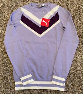 NEW Womens Puma Chevron Sweater Size X-Small XS Purple Lavender 577941 02