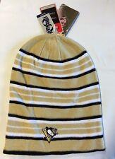 Pittsburgh Penguins Knit Beanie Toque Winter Hat Skull Cap New Reversible Long