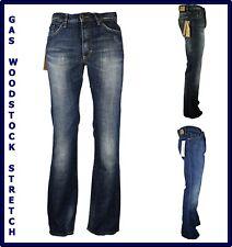 jeans gas da uomo elasticizzati stretch a zampa svasati bootcut w 29 30 31 42 44