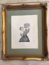 """Tiziano Vicellio """"Daughter of Titian"""" Reproduction Art, Pensil Drawing & Colored"""
