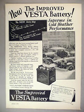 Vesta Car Battery PRINT AD - 1929 ~~ automobile