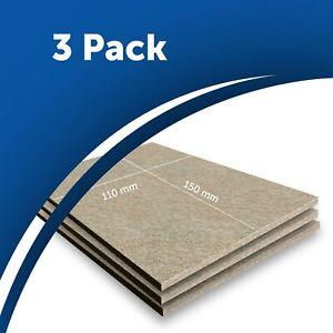 3x Beige Furniture Felt Pad Sheets 15x11cm Hardwood Flooring Protector 5mm thick