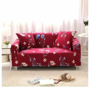 Printed Sofa Cover Slipcovers for 3 Seater - MAROON
