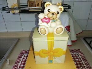 Teddy San Valentino Cm. 10 con latta - Thun