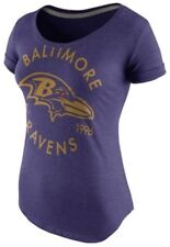 Nike Women's Baltimore Ravens Crested Tri Blend Jersey Shirt Large L NFL