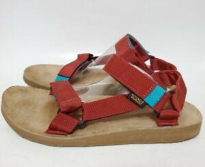 Teva Mens 9 Original Universal Backpack Sandals Deep Red Blue SAMPLE Shoes