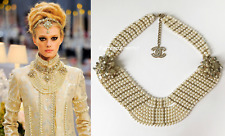 INCREDIBLE CHANEL 12A PARIS-BOMBAY RUNWAY PEARL GRIPOIX FLOWER NECKLACE