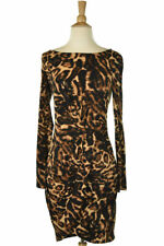 A.B.S by Allen Schwartz  Women Dresses Bodycon XS Brown Polyester