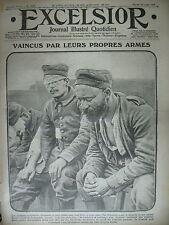 WW1 N° 1729 ALLEMANDS BLESSéS PAR LEUR GAZ OR NERF DE LA GUERRE EXCELSIOR 1915